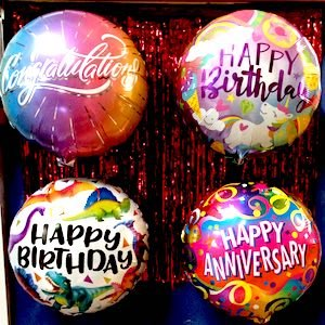 foil birthday holiday anniversary balloons