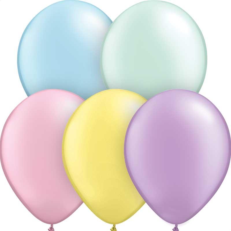 pastel latex balloons