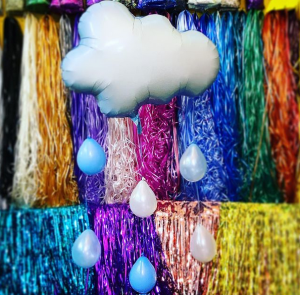 helium filled rain cloud balloons