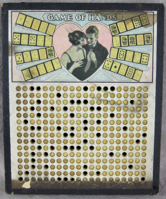 antique punchboard game